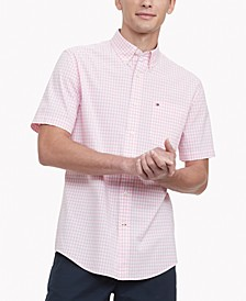 Men's Classic-Fit TH Flex Stretch Poplin Twain Check Shirt
