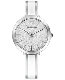 Women's Swiss Crystalline Delight Stainless Steel & White Bangle Bracelet Watch 32mm