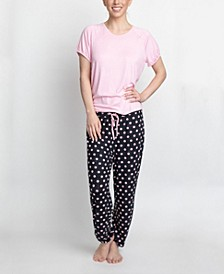 T-Shirt & Printed Pants Pajama Set