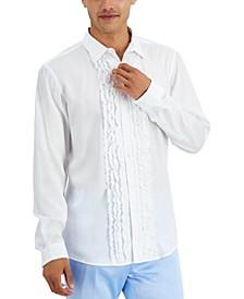 Men's Ruffled Tuxedo Shirt, Created for Macy's