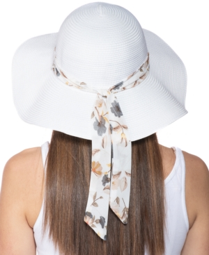 Inc International Concepts Hats INC PRINTED-BAND ROLL-UP FLOPPY HAT, CREATED FOR MACY'S