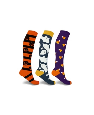 Men's and Women's Scary Pumpkin and Ghosts Knee High Compression Socks