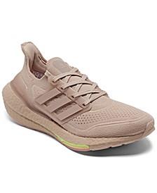 Women's UltraBOOST 21 Primeblue Running Sneakers from Finish Line