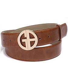 Signature-Buckle Panel Belt