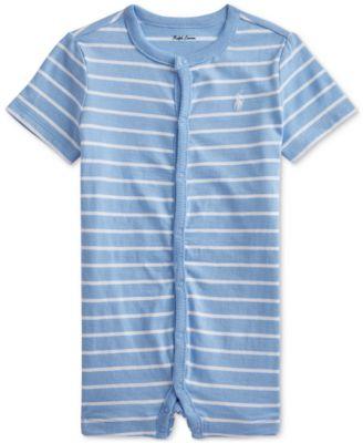 폴로 랄프로렌 Polo Ralph Lauren Baby Boys Striped Cotton Jersey Shortall