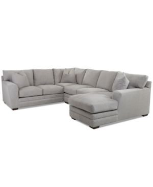 Macy's LORANNA 3-PC. FABRIC SECTIONAL WITH CHAISE, CREATED FOR MACY'S