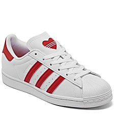 Little Girls Valentine's Day Superstar Casual Sneakers from Finish Line