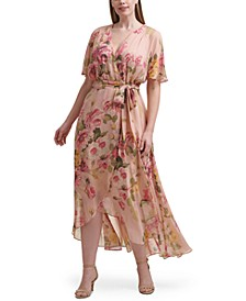 Plus Size Floral-Print Maxi Dress