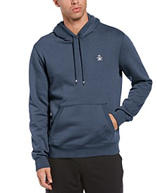 Men's Slim-Fit Solid Fleece Hoodie