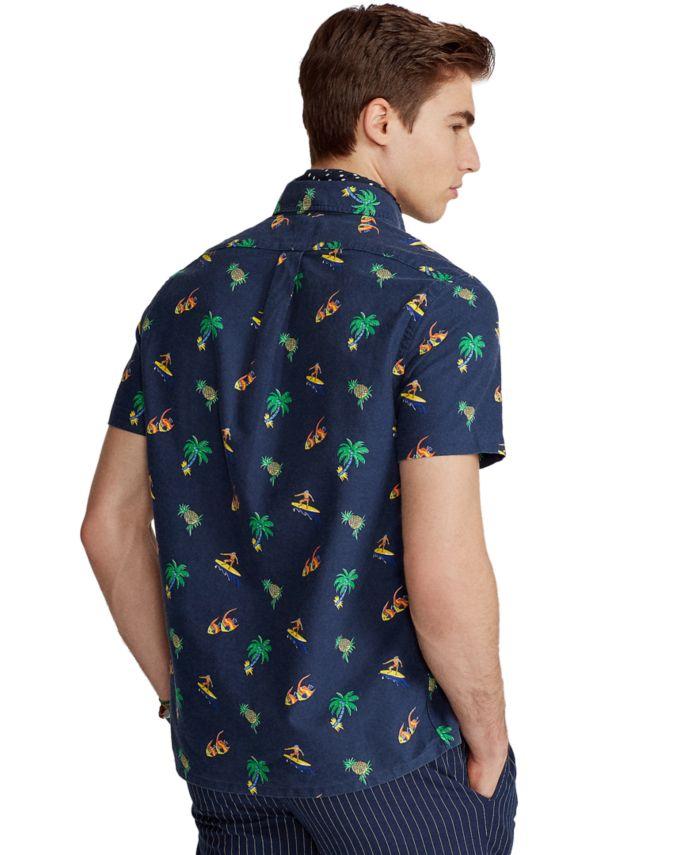 Polo Ralph Lauren Men's Classic-Fit Surfer-Print Oxford Shirt & Reviews - Casual Button-Down Shirts - Men - Macy's