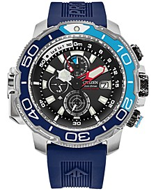 Eco-Drive Men's Chronograph Promaster Aqualand Blue Polyurethane Strap Watch 46mm