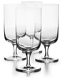 Footed Beverage Glasses,  Set of 4, Created for Macys