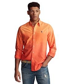 Men's Classic-Fit Dip-Dyed Cotton Oxford Shirt
