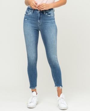 Women's High Rise Broken Hem Ankle Skinny Jeans