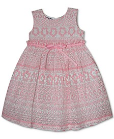 Baby Girls Printed Lace Dress