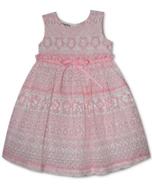 Blueberi Boulevard Dresses BABY GIRLS PRINTED LACE DRESS