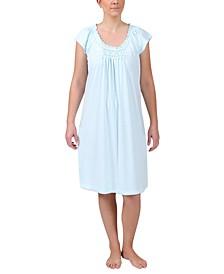 Printed Short-Sleeve Nightgown