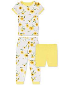 Toddler Girls 2-Piece Sunflower-Print Pajama Set with Shorts