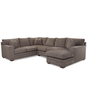 Macy's Furnitures LORANNA 3-PC. FABRIC SECTIONAL WITH CHAISE, CREATED FOR MACY'S