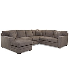 Loranna 3-Pc. Fabric Sectional with Chaise, Created for Macy's