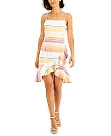 Samba Striped Ruffled Dress, Created for Macy's