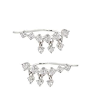 Cubic Zirconia Climber Earrings