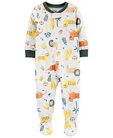 Carter' Toddler Boys 1-Piece Animals Loose Fit Footie Pajamas