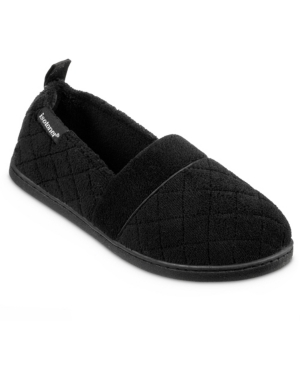 Quilted Memory Foam Microterry Slip On Slippers