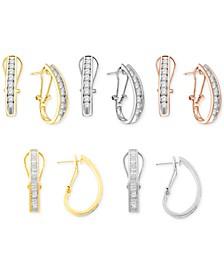 Diamond J-Hoop Earring Collection