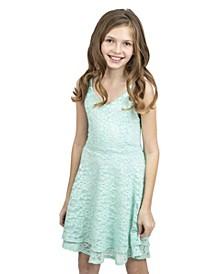 Big Girls Lace Double Layer Skirt Dress