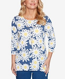 Plus Size Lazy Daisy Lacy Daisies Top