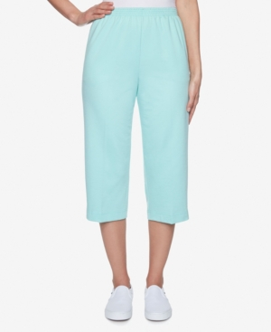 Alfred Dunner PLUS SIZE CLASSICS S1 FRENCH TERRY CAPRI PANT
