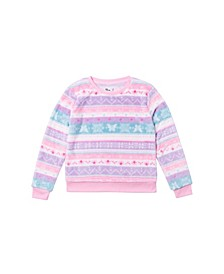Big Girls All Over Print Minky Pullover