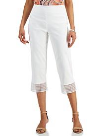 Crochet-Hem Capri Pants, Created for Macy's