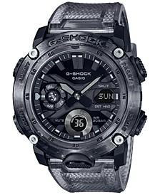 Men's Analog-Digital Translucent Smoke Resin Watch 48.7mm