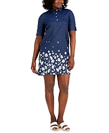 Floral-Border Dress, Created for Macy's