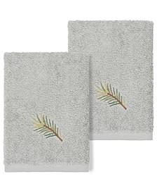 Pierre Embellished Washcloth Set, 2 Pieces