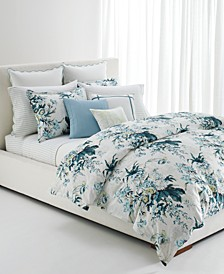 Eden Cotton Sateen 3-Pc. Botanical Full/Queen Duvet Set