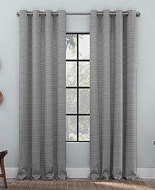 Strie Texture Recycled Fiber Semi-Sheer Grommet Curtain Panel Collection