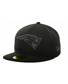 New Era New England Patriots Black Gray 59FIFTY Hat