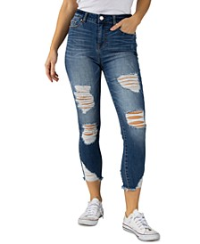 Jeans Juniors' Cropped Ripped Skinny Jeans