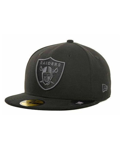 New Era Oakland Raiders Black Gray 59FIFTY Cap - Sports Fan Shop By ... 14edfad9252