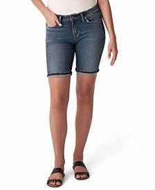 Suki Mid-Rise Denim Bermuda Shorts
