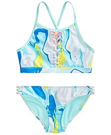 Big Girls Lace-Up Bikini Set, Created for Macy's