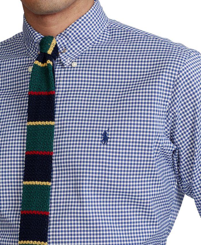 Polo Ralph Lauren Men's Classic-Fit Gingham Oxford Shirt & Reviews - Casual Button-Down Shirts - Men - Macy's