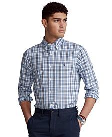 Men's Classic-Fit Plaid Stretch Poplin Shirt
