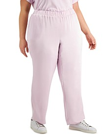 Plus Size Modern Lounge Pull-On Pants, Created for Macy's