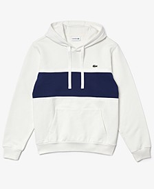 Men's Classic-Fit Colorblocked Mix-Media Hoodie
