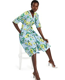 INC Cotton Printed Belted Shirtdress, Created for Macy's