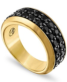 Black Sapphire Band (3 ct. t.w.) in 14k Gold-Plated Sterling Silver, Created for Macy's